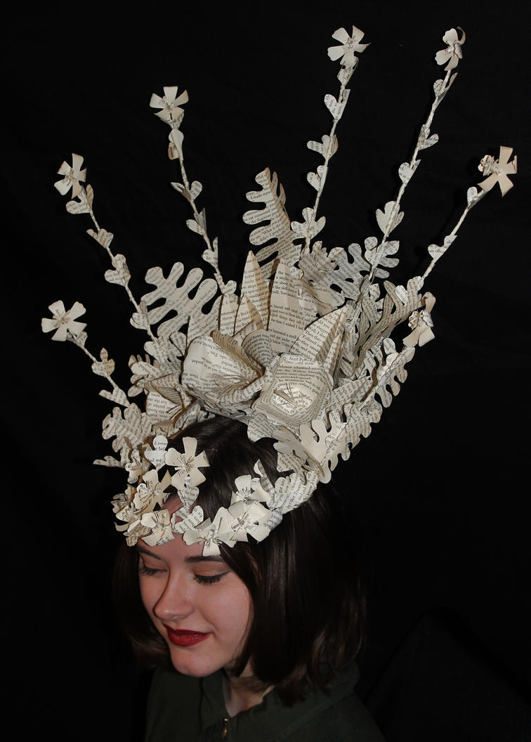 Faye Book Sculpture Headpiece by wetcanvas