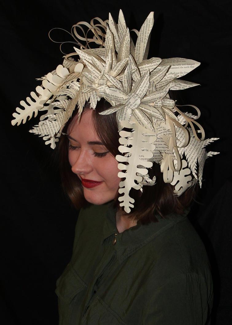 Willow Book Sculpture Headpiece by wetcanvas