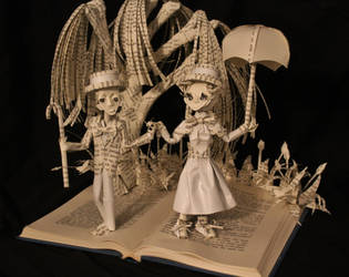Mary Poppins Book Sculpture by wetcanvas