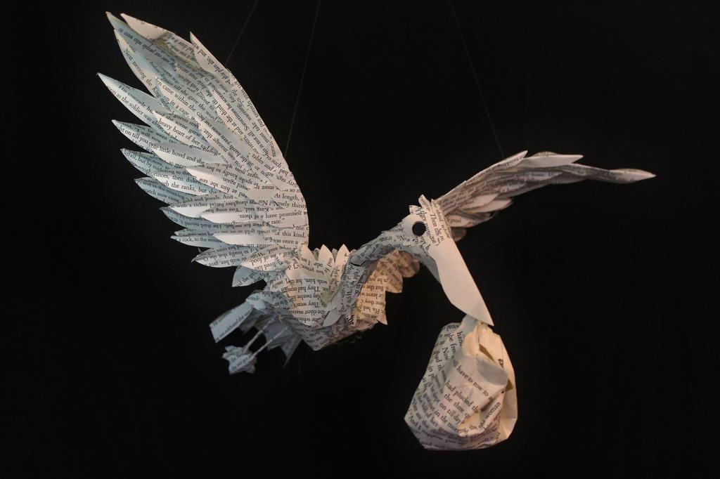 Stork Book Sculpture Mobile by wetcanvas