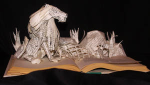 The Lion and the Mouse Book Sculpture