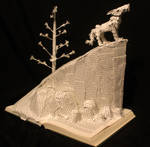 White Fang Book Sculpture