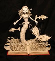 The Little Mermaid Book Sculpture NEW