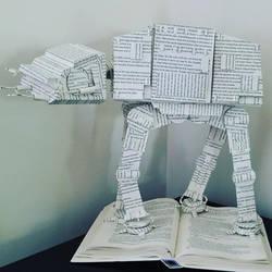 AT-AT Book Sculpture 2