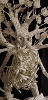 Treebeard Book Sculpture Close Up