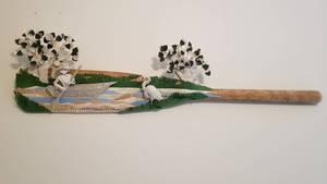 Canoeing Sculpture on Oar