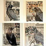 Baltimore Ravens Acrylic Paintings on Collage