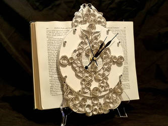 Clock Book Sculpture  by wetcanvas