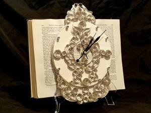 Clock Book Sculpture