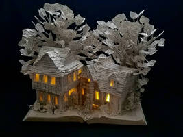 The House of the Seven Gables Book Sculpture