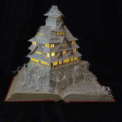 Osaka Castle Book Sculpture