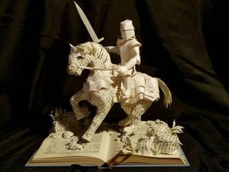 King Arthur Book Sculpture