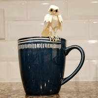 Miniature Owl Paper Sculpture