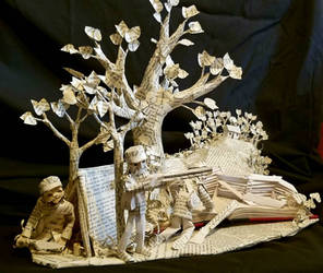 The Red Badge of Courage Book Sculpture  by wetcanvas