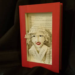 Betty White Book Sculpture