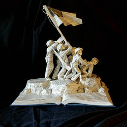 Flags of Our Fathers Book Sculpture