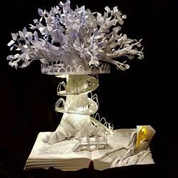Lothlorien Book Sculpture