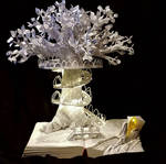 Lothlorien Book Sculpture