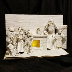 A Christmas Carol Book Sculpture