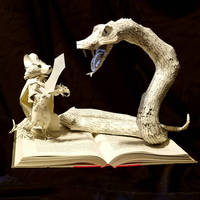 Redwall Book Sculpture