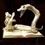 Redwall Book Sculpture