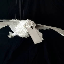Hedwig Book Sculpture