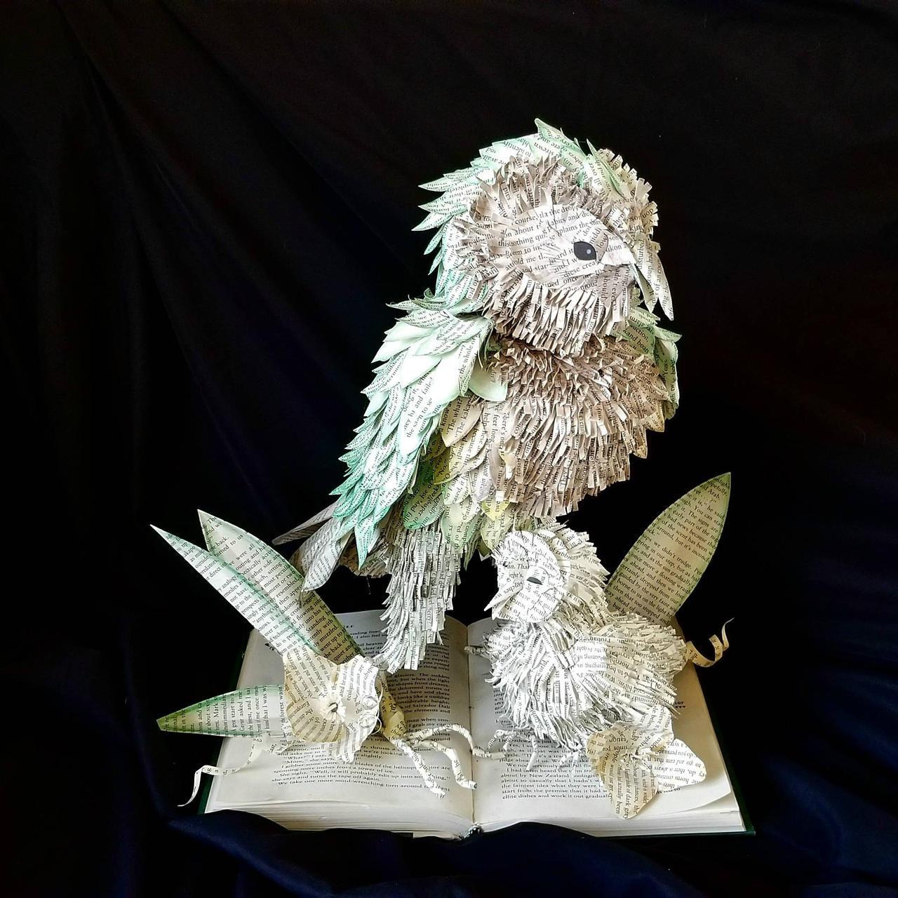 Kakapo Book Sculpture