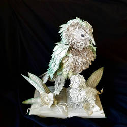Kakapo Book Sculpture