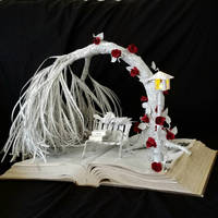 Love Birds Book Sculpture
