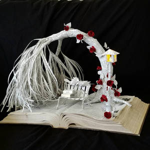 Love Birds Book Sculpture