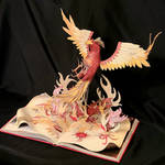 Phoenix Book Sculpture