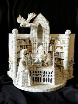 Harry and Dumbledore Book Sculpture