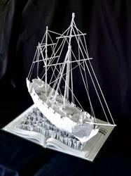 Ship Book Sculpture