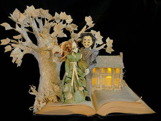 Gone With The Wind Book Sculpture
