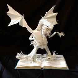 Jabberwocky Book Sculpture