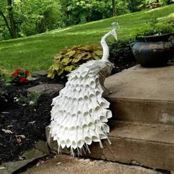 Peacock Book Sculpture