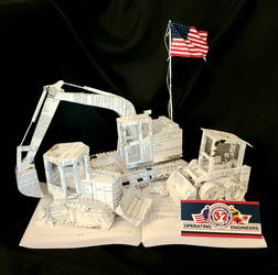Construction Book Sculpture