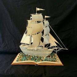 SV Aurora Book Sculpture