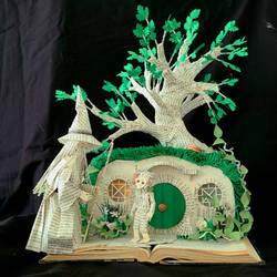 The Hobbit Book Sculpture