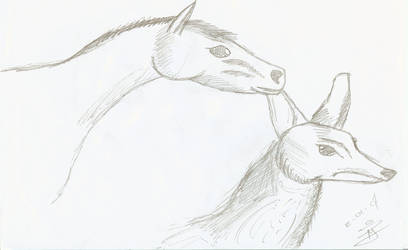 Horse and Fox
