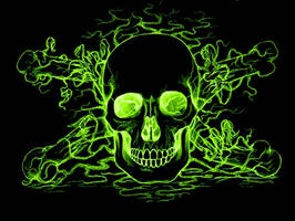 Toxic skull by thekslayer
