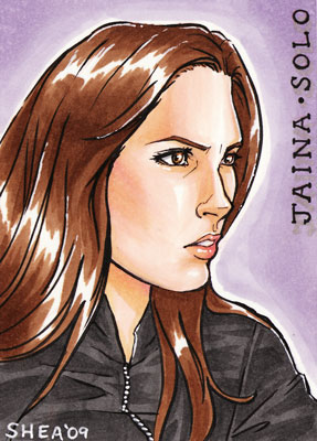 Jaina Solo sketch card by sheastandefer