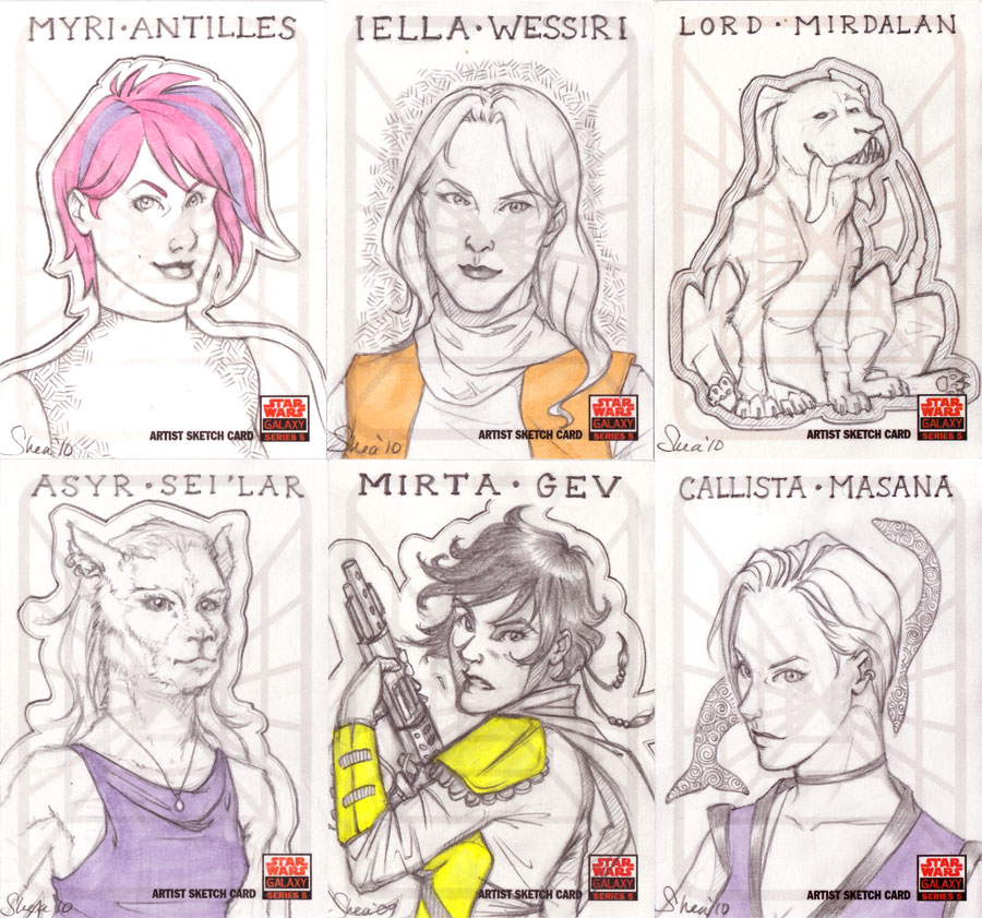 SWG:5 Sketch Cards by sheastandefer