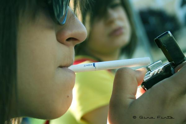 Smoking by ginaa
