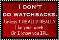 No WatchBacks by World-Hero21