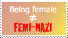 No, I'm not a feminist, even though I'm a girl. by World-Hero21