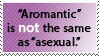 REQUEST: Aromantic is not the same. by World-Hero21
