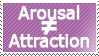 Arousal is not really attraction.