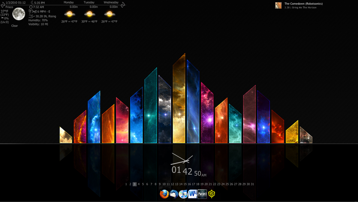 Rainmeter windows 7 for Bureau windows 7 rainmeter