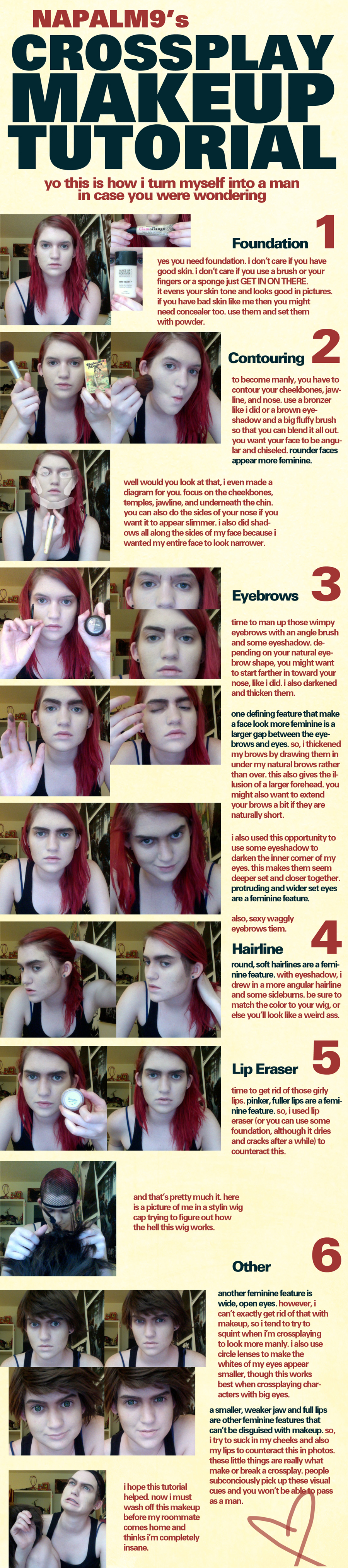 Crossplay Makeup Tutorial by napallama